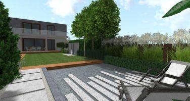 Ogród przy szeregowcu z drewnianym tarasem rockandflower studio (2)