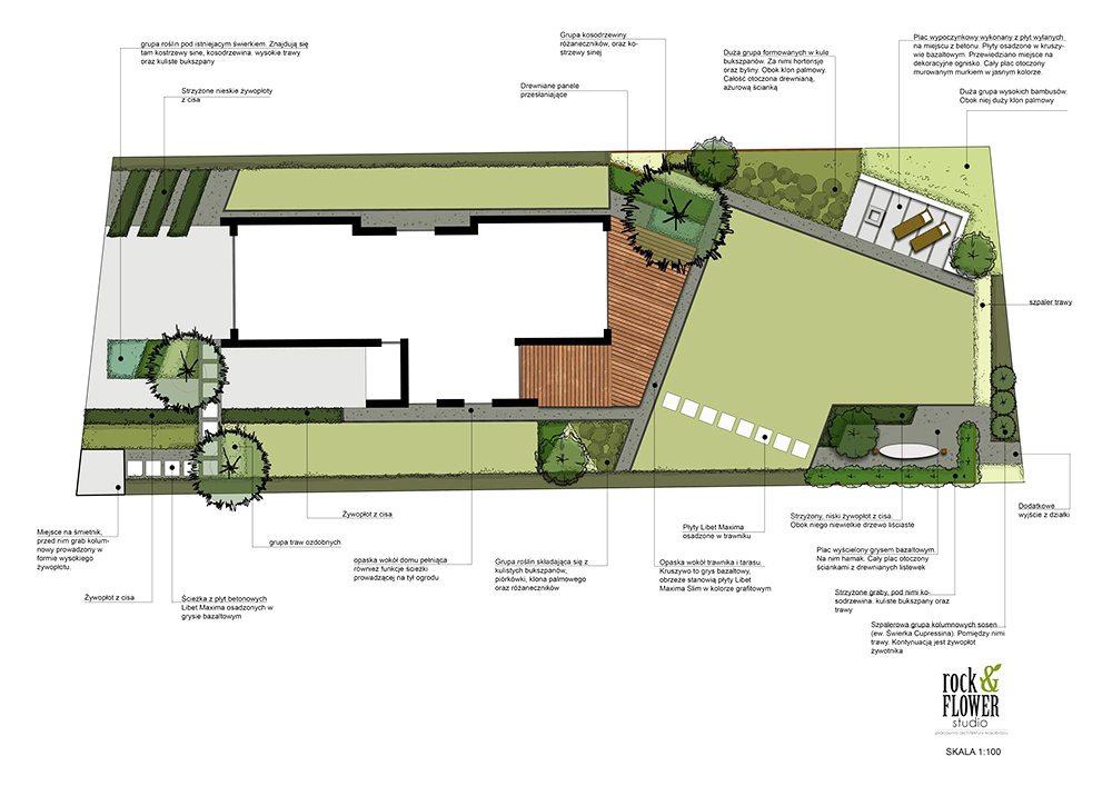 Rockandflower architektura krajobrazu nowowczesny ogrod w poznaniu projekt