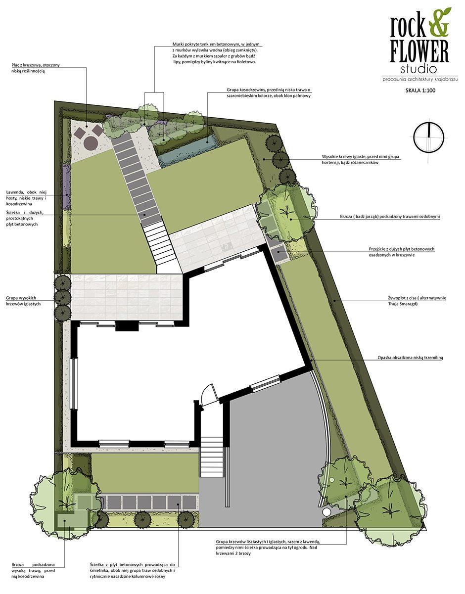 projekt nowoczesnego ogrodu w Poznaniu