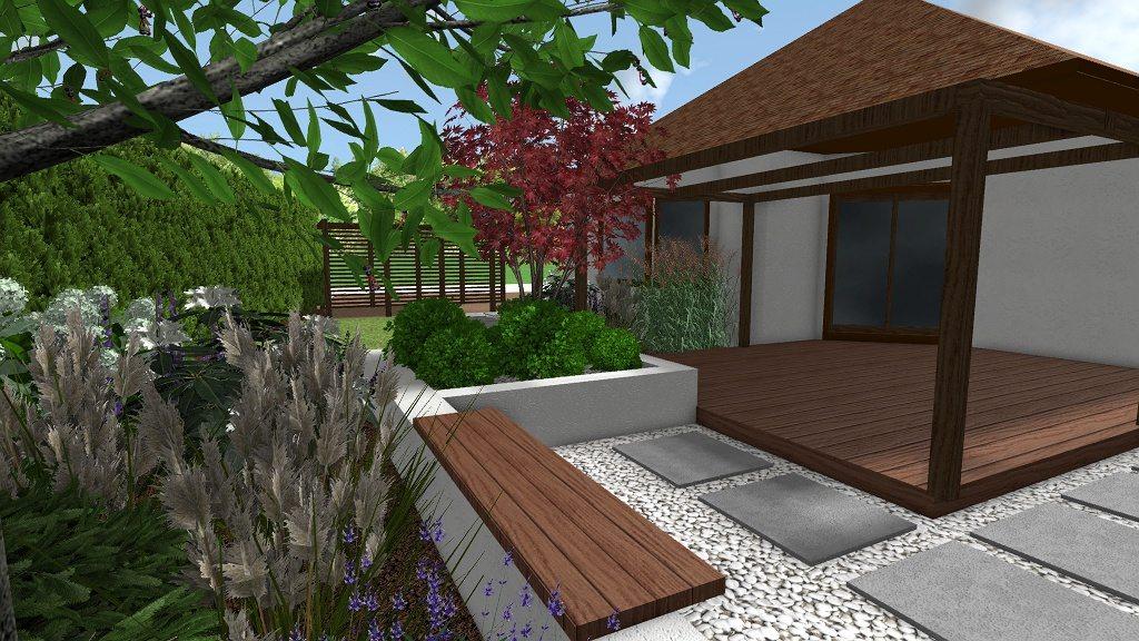 mały ogród w gdańsku rfstudio
