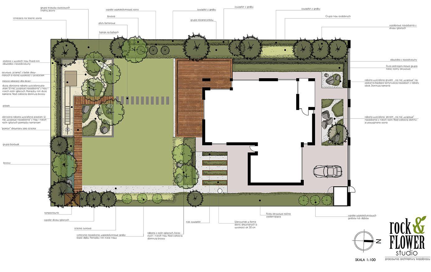 nowoczesny ogród w Poznaniu Rockandflower studio Rock&flowerstudio rfstudio projektowanie ogrodów