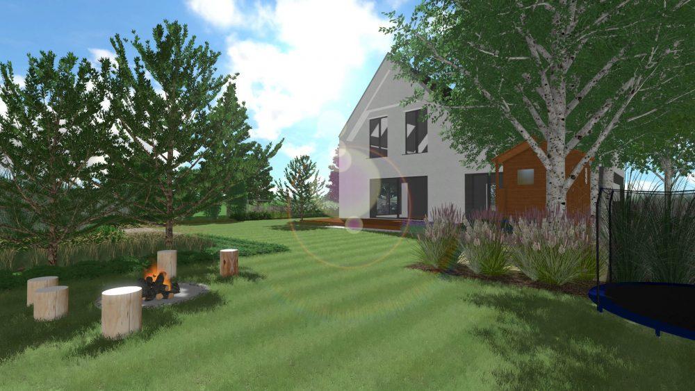 ogród w skandynawskim stylu w poznaniu projektowanie ogrodów rockandflower studio