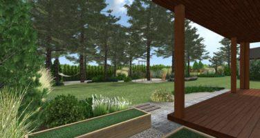 ogród leśny, ogród naturalistyczny, ogród sosnowy