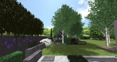 ogród nowoczesny, projekt nowoczesnego ogrodu , ogród geometryczny