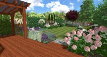projekt ogrodu przy szeregowcu w Pradze, ogród bylin, projektowanie ogrodów Rockandflower studio Rfstudio Rock&Flower studio (7)