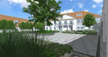projekt ogrodu przy zabytkowej rezydencji Plzeń czechy projekt ogrodu zabytkowa zieleń Rockandflower studio rfstudio architektura krajobrazu