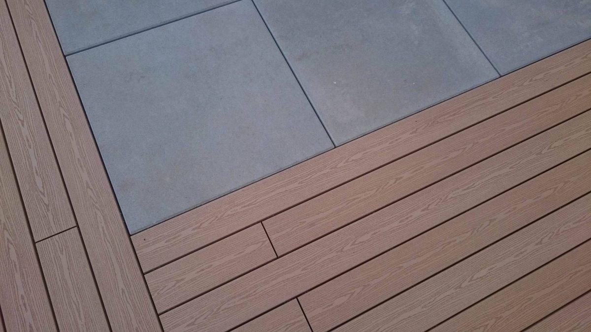 projekt ogrodu, taras z drewnem i betonem, rockandflowerstudio, rfstuio