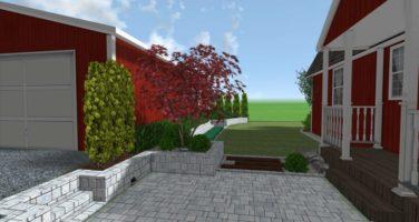 ogród naturalistyczny, projekt ogrodu w szwecji,zagospodarowanie terenu