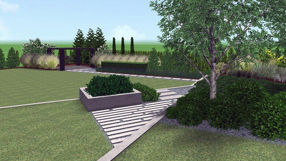 projekt ogrodu na małej skarpie rockandflower studio poznan