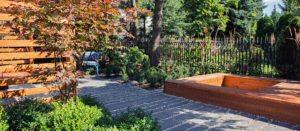 nowoczesny ogród - projekt nowoczesnego ogrodu - ogród przy szeregowcu