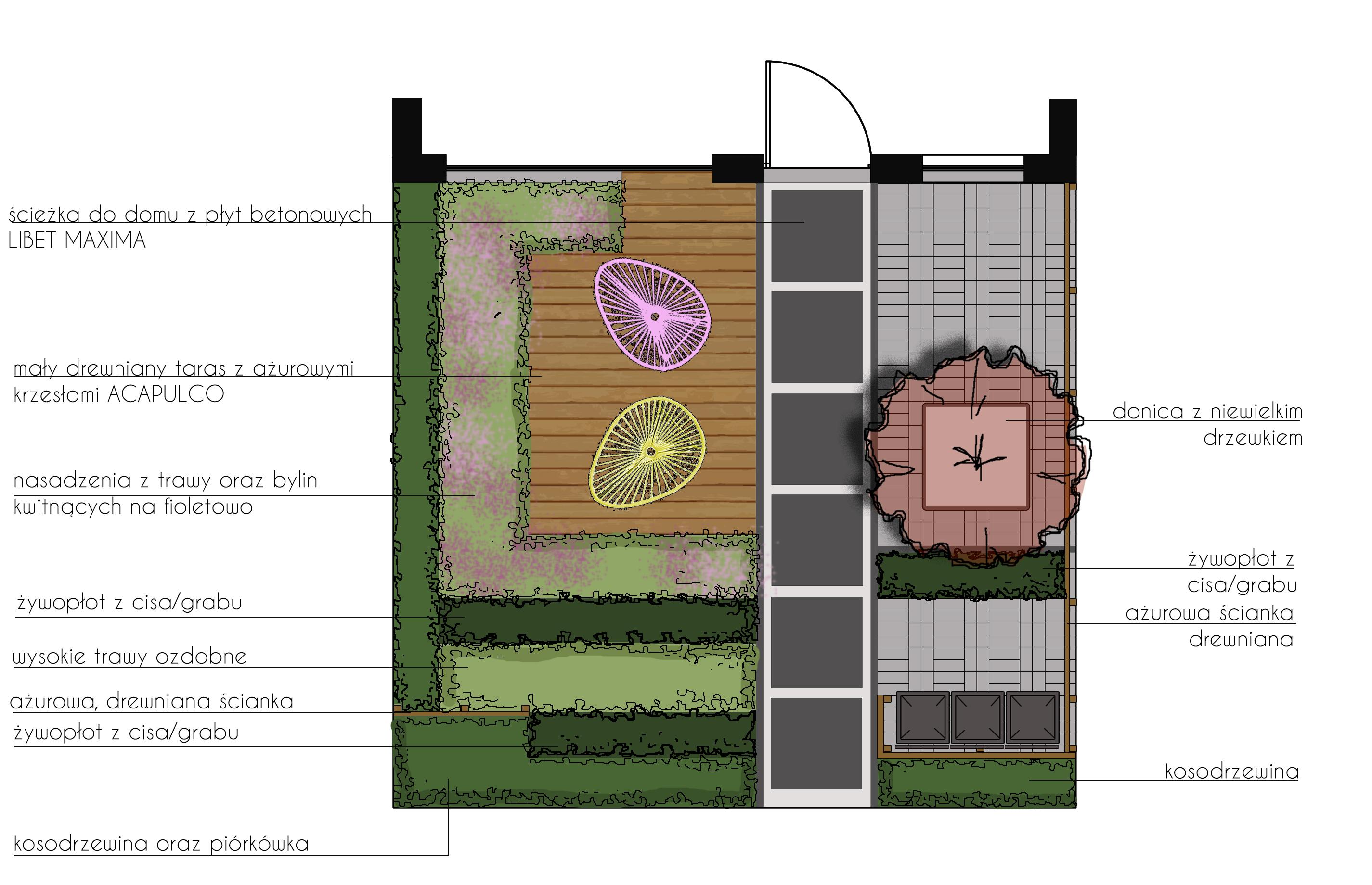 mały przedogródek pod poznaniem rfstudio rockandflower studio projektowanie ogrodów