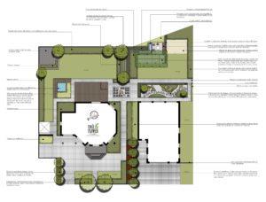 projekt ogrodu romantycznego duży ogród projekt rockandflower studio rfstudio