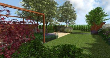 ogród przy szeregowcu poznan rockandflower projektowanie ogrodów rfstudio