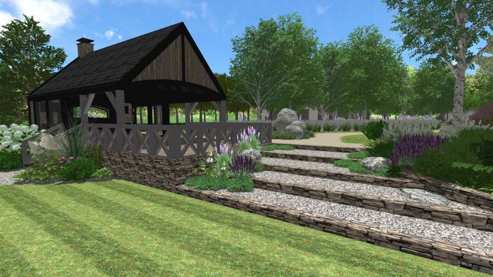 projekt ogrodu poznań, projekt ogrodu nad jeziorem, zagospodarowanie terenu zieleni Poznań