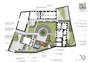projekt ogrodu przy rezydencji projekt zieleni zabytkowej projektowanie ogrodów Praga Poznań rockandflower studio rfstudio