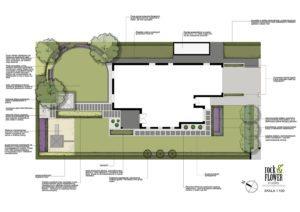 projekt ogrodu przydomowego w Poznaniu, ogrody nowoczesne - płyty betonowe w ogrodzie