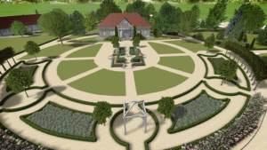 zagospodarowanie zieleni przy dworku - zabytkowe założenia ogrodowe - ogrody geometryczne