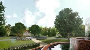 zagospodarowanie zieleni przy dworku - zabytkowe założenia zieleni - ogrody eleganckie