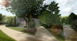 zagospodarowanie zieleni przy dworku - zabytkowe założenia ogrodowe - ogrody eleganckie
