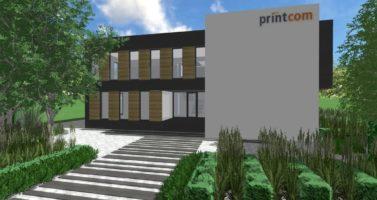zagospodarowanie zieleni przy firmie, nowowczesna architektura krajobrazu, minimalistyczne założenie zieleni