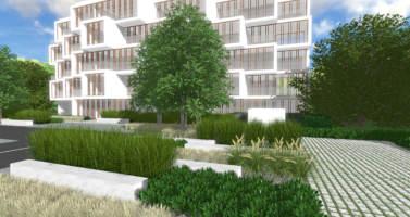 apartamenty potocka Warszawa - projekt zieleni , Rock&Flower studio