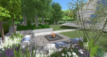 ogród w bieli, nowoczesny ogród, ogród klasyczny, projektowanie ogrodów Poznań, projekty ogrodów Poznań, ogrody Poznań, pracownia architektury krajobrazu