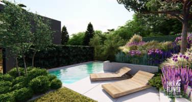 nowoczesny ogród Projekt, pracownia architektury krajobrazu Poznań